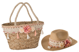 zomertas met hoed 83402