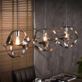 3- lichts hanglamp in oud zilver