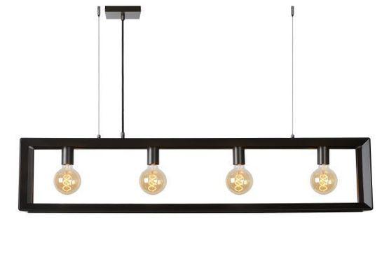 Thor hanglamp grijs ijzer 4*E27