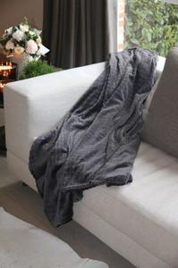 Plaid panhter 150*200 donker grijs