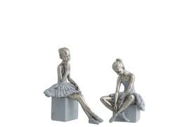 Ballerina zittend op voet assortiment van 2