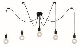 Fix Multiple hanglamp zwart 5 lichts