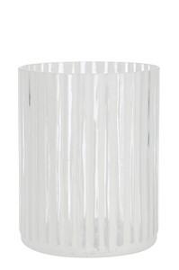 T streep glas wit groot