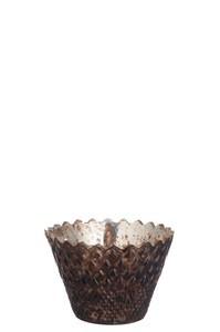 T-LH gekarteld glas bruin
