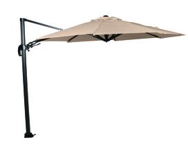 Hawai parasol 3,5m rond met voet 90kg (inclusief wieltjes voet)