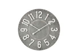 Klok cijfers rond grijs/wit