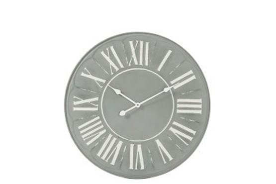 Klok rond grijs