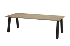Derby teak tafel met  aluminium poten 240cm