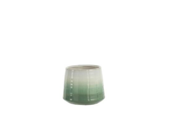 Bloempot Botanic Porselein Groen/Wit Small
