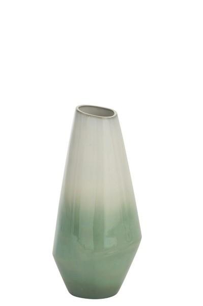 Vaas Botanic Porselein Groen/Wit Small