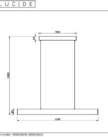 RAYA LED - Hanglamp - LED Dimb. - 1x36W 2700K - Zwart