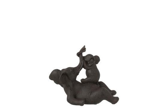Olifant Lig+Kind Buik Pol Br