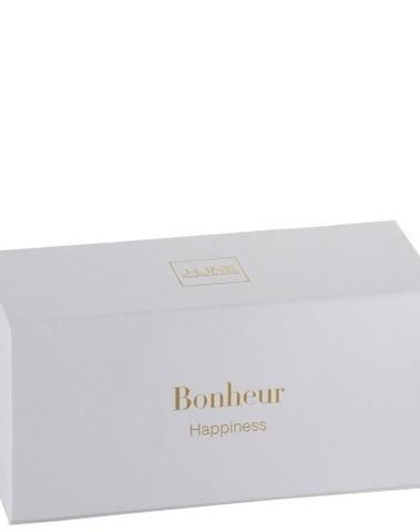 Geurkaars+Geurolie Bonheur Wax Wit/Goud-16u