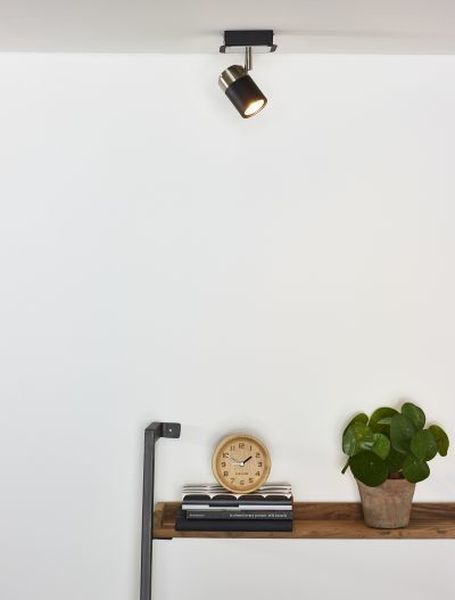 LENNERT - Plafondspot - LED Dimb. - GU10 - 1x5W 3000K - Zwart