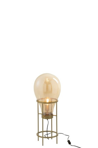 Lamp Luchtballon Glas/Metaal Goud Small