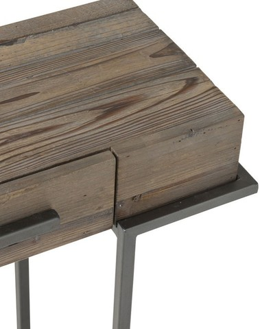 Console 2 Lades Hout/Metaal Bruin