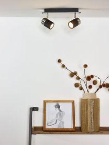 LENNERT - Plafondspot - LED Dimb. - GU10 - 2x5W 3000K - Zwart