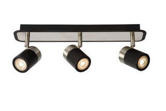 LENNERT - Plafondspot - LED Dimb. - GU10 - 3x5W 3000K - Zwart