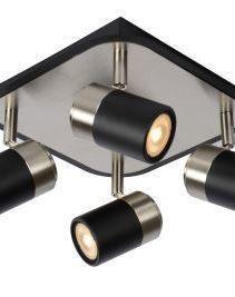 LENNERT - Plafondspot - LED Dimb. - GU10 - 4x5W 3000K - Zwart