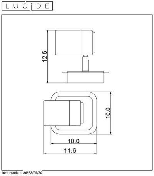 LENNERT - Wandspot Badkamer - LED Dimb. - GU10 - 1x5W 3000K - IP44 - Zwart