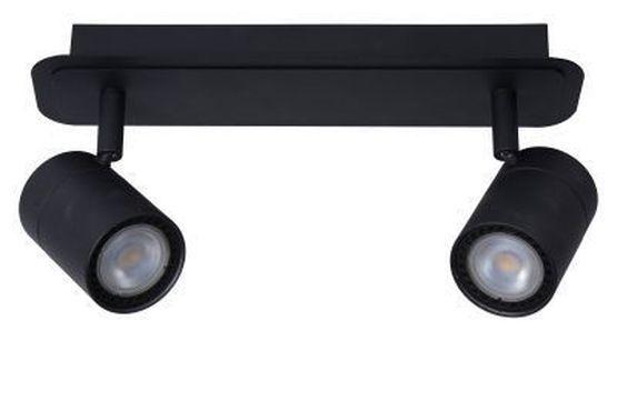 LENNERT - Wandspot Badkamer - LED Dimb. - GU10 - 2x5W 3000K - IP44 - Zwart