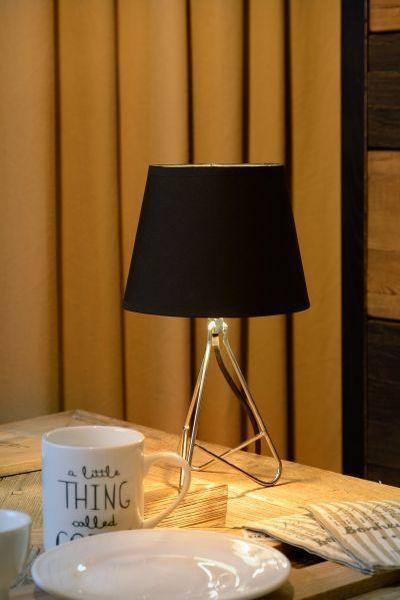 GITTA - Tafellamp - Ø 17 cm - E14 - Chroom