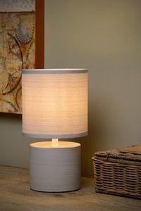 GREASBY - Tafellamp - Ø 14 cm - E14 - Grijs