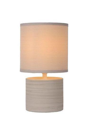 GREASBY - Tafellamp - Ø 14 cm - E14 - Beige