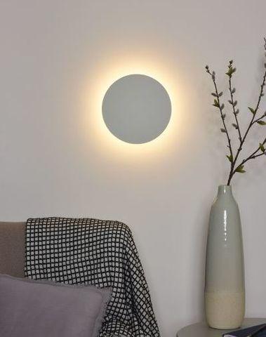 EKLYPS LED - Wandlamp - Ø 25 cm - LED - 1x8W 3000K - Wit