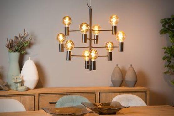 LEANNE - Hanglamp - Ø 65 cm - E27 - Zwart