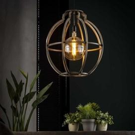 Hanglamp Globo oud zilver