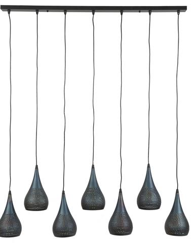 Hanglamp druppel punch 7* 15cm