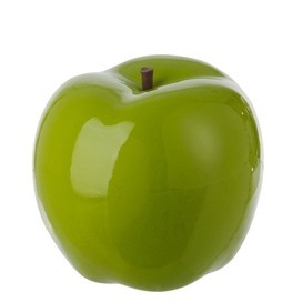 Appel Deco Keramiek Glanzend Groen Large 26X25Cm