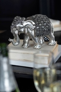 Olifant Spiegel Poly Zilver Small