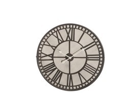 Klok Romeinse Cijfers Spiegel Metaal Bruin promo € 89,95