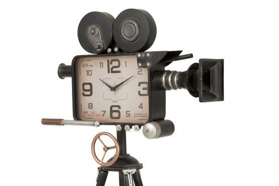 Klok Camera Op Statief Ijzer Zwart