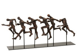 Atleten Lopend Poly Brons/Zwart