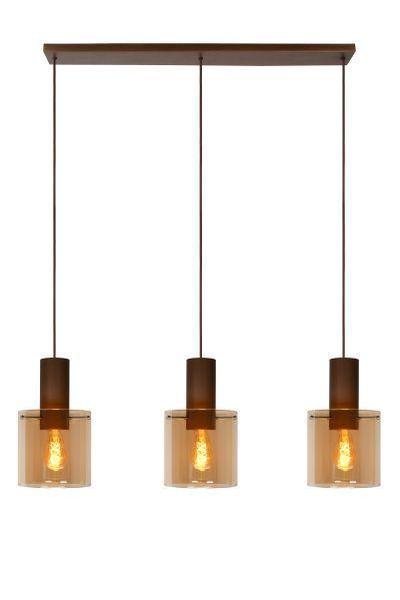 TOLEDO - Hanglamp - Ø 20 cm - E27 - Amber