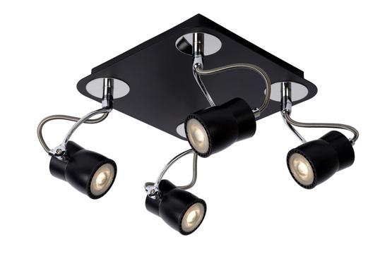 SAMBA - Plafondspot - LED Dimb. - GU10 - 4x5W 3000K - Zwart