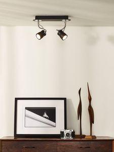SAMBA - Plafondspot - LED Dimb. - GU10 - 2x5W 3000K - Zwart