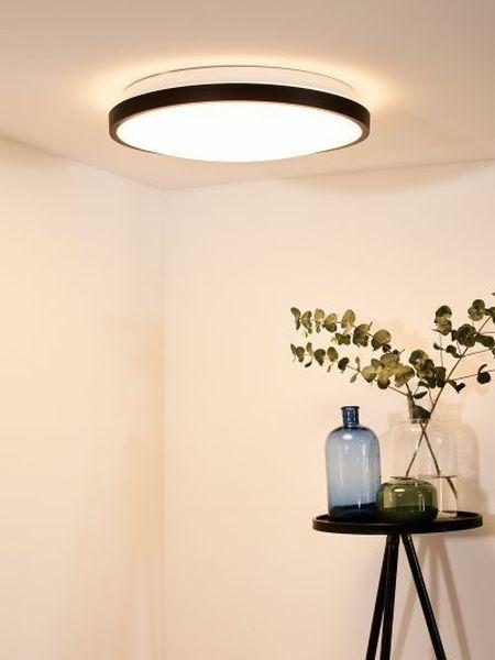 POLARIS - Plafonnière - Ø 55,7 cm - LED Dim to warm - 1x50W 2700K/4000K - Zwart