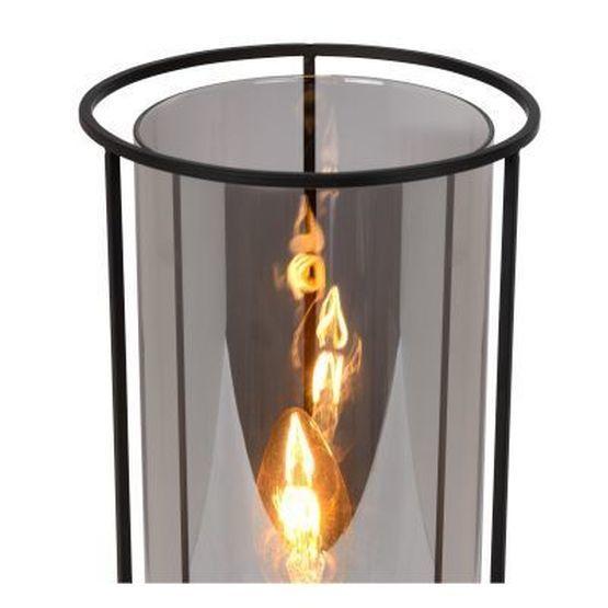 DOUNIA - Tafellamp - Ø 15 cm - E27 - Zwart