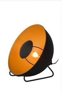 ALVARO - Tafellamp - Ø 31 cm - E27 - Zwart