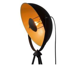 ALVARO - Vloerlamp - E27 - Zwart