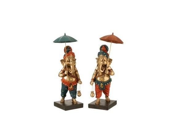 Ganesha Parasol Assortiment van 2