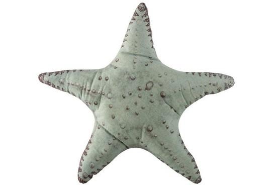 Kussen Zeester  Lichtblauw/Munt