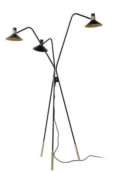 PEPIJN - Vloerlamp - E14 - 3 StepDim - Zwart
