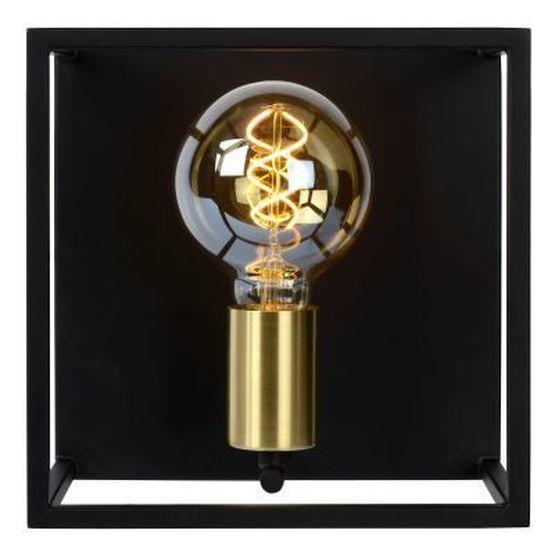 RUBEN - Wandlamp - E27 - Zwart