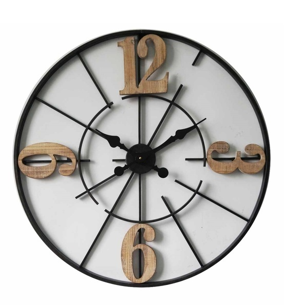 Metal Wood Clock Fracture
