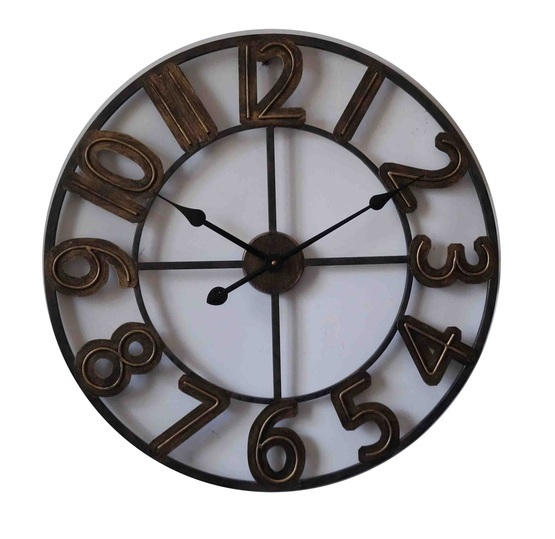 Old metal Round Clock
